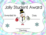 Free Jolly Student Snowman Awards