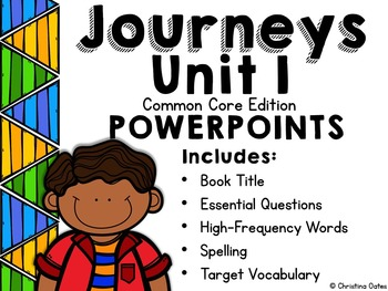 Free Journeys Common Core Edition Unit 1 Lesson 1 Powerpoint