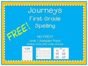 Free Journeys Unit 1 Spelling Sampler Pack!