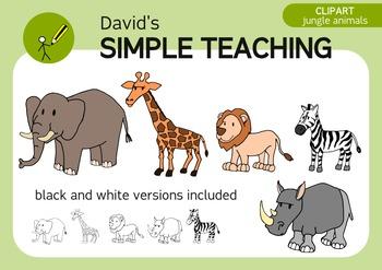 Free Jungle Animals Clipart - Clipart de Animales de la Selva Gratis