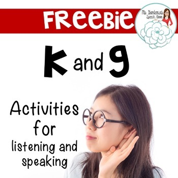Free K and G Articulation Activities