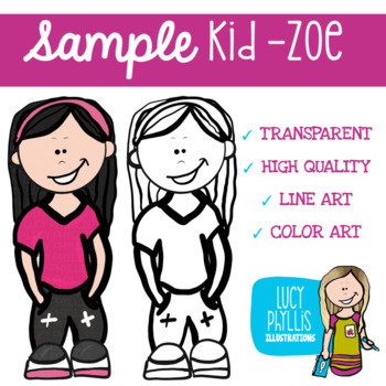 Free Sample Kid - Zoe (Lucy Phyllis Illustrations)