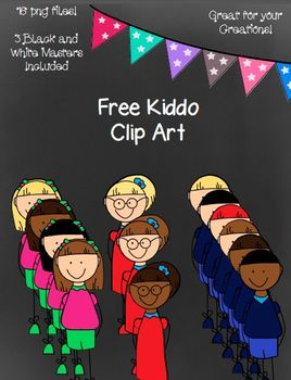 Free Kiddo Clip Art- 16 Png Images ~ Black and White Masters Included!