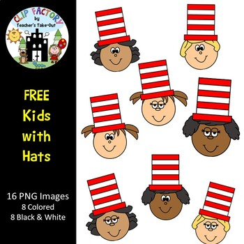 Free Kids with Hats Clip Art