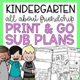 Free Kindergarten Emergency Sub Plan Friendship