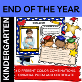 Free Editable Kindergarten End of Year Graduation Certificates and Memory Page