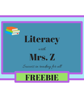 Free Kindergarten Guided Reading!