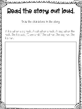 Kindergarten Language Arts Worksheet