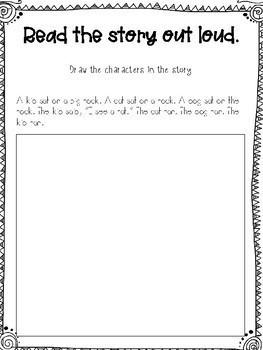 Kindergarten Language Arts Worksheet by The Creative ...