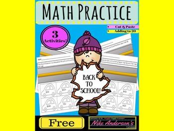 Free Kindergarten Math Practice (numbers 0-20)