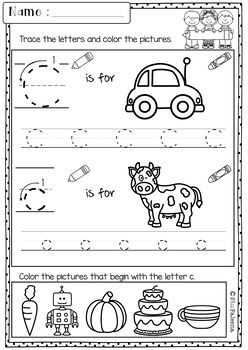 Free Kindergarten Morning Work by Miss Faleena | TpT