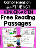 Free Kindergarten Reading Fluency and Comprehension Passages