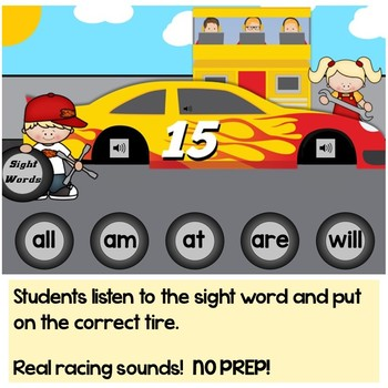 Free Kindergarten Sight Words Practice Digital Boom Cards Distance Learning