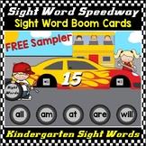 Free Kindergarten Sight Words Practice Digital Boom Cards