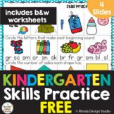 Free Kindergarten Skills Math Worksheets Google Classroom