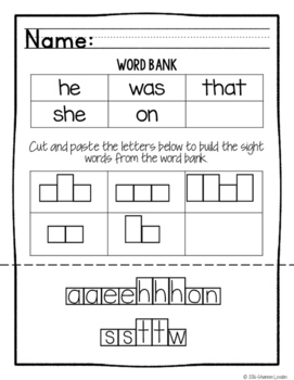 Free kindergarten word work no prep sight words worksheets tpt free kindergarten word work no prep sight words worksheets ibookread Read Online