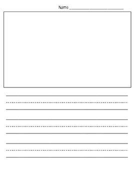 Free Kindergarten Writing Paper Template (Show and Tell) by Mrs Aoto