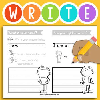 Free Kindergarten Writing Prompts