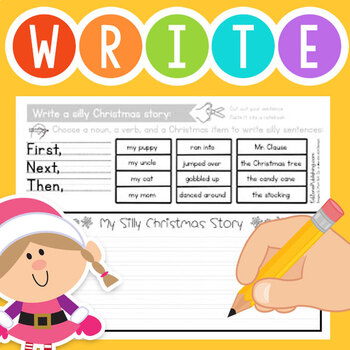Free Kindergarten Writing Prompt for Christmas