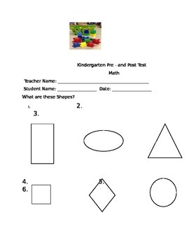 Free Kindergarten math assessment