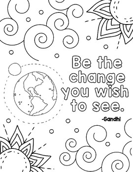 Free Kindness Coloring Pages by