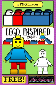 LEGO Inspired KIDS Clipart | FREEBIE