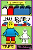 LEGO Inspired KIDS Clipart | FREEBIE