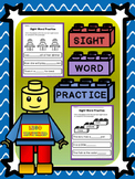 Free LEGO Inspired Sight Word Practice