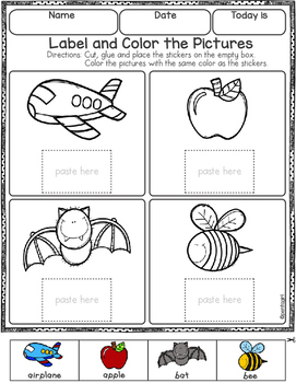 Free Label and Color the Pictures