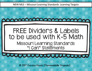 Free Labels and Dividers for the New Math K-5 MLS
