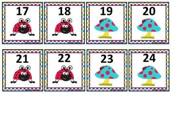 Free Ladybug Calendar Numbers