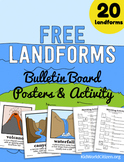 Free Landforms Bulletin Board Posters and Matching Activity