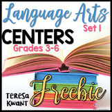 Free Literacy Centers for 3rd, 4th, 5th, and 6th Grade