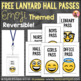 Free Lanyard Hall Passes - Emoji Theme