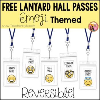 Free Emoji Hall Passes - for Lanyards