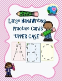 {Free} Large Handwriting Practice Cards-Upper Case