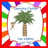 "Free-Las silabas con ""M""(ma,me,mi) Spanish reading center"