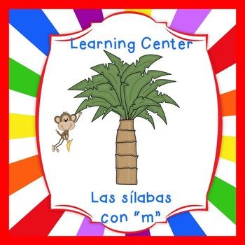 "Free-Las silabas con ""M""(ma,me,mi) Spanish reading center"