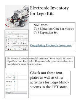 Free Lego Inventory Directions for Electronic Spreadsheet