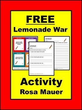 Free Lemonade War Edit and Write Task Card and Response Page