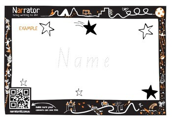 Handwriting names l Lesson Plan FREE l Animate in AR l Distance Learning