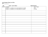 Free Lesson Plan Template for Therapy