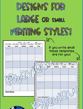 Free Lesson Plan Templates, All Subjects for Binders
