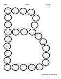 Free Letter B Alphabet Dot Page
