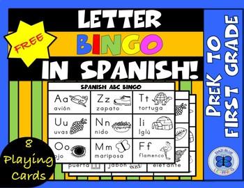Free Letter Bingo In Spanish Prek 1st Grade By Diazi Blue Learning