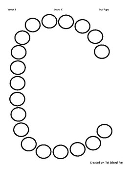 Free Letter C Alphabet Dot Page