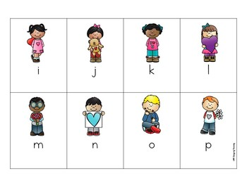 Free Valentines Day Letter Naming or Sound Fluency Game