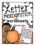 Free Letter Recognition Worksheets