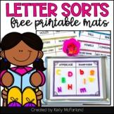 Free Letter Sort Mats