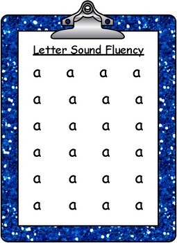 Free- Letter Sound Fluency- Sound /a/ with QR Codes